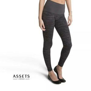 ASSETS BY SPANX Gray Camo Shaping Leggings Small